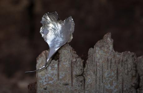 1e gehalte zilver_sterling zilver_925 zilver_ smeedbroche_broche_brochering_blad_massief_ gesmeed_staf_goudsmid_edelsmid_Breda_ sieraden_handgemaakt