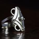 1e gehalte zilver_sterling zilver_925 zilver_ ring_semi opengewerkte band_3-laags_ vorm_ruit_ornament_goudsmid_edelsmid_ Breda_sieraden_handgemaakt