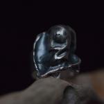 1e gehalte zilver_sterling zilver_925 zilver_ring_gietvorm_gieten_watergieten_ gezwart_afwerking_hoogglans_gepolijst_band _breed_smal_gematteerd_goudsmid_edelsmid _Breda_sieraden_handgemaakt